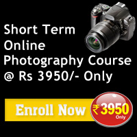 Short Term Online Photography Course @ Rs 3950/- Only